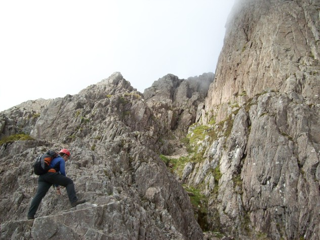 The author on Curved Ridge