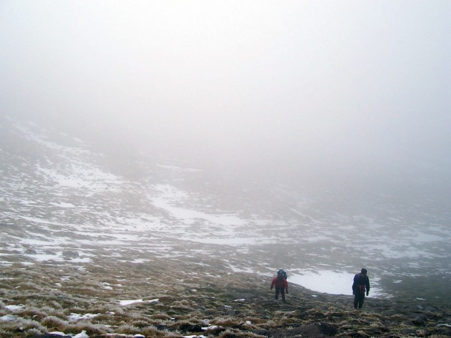 Walking up into Coire Cas
