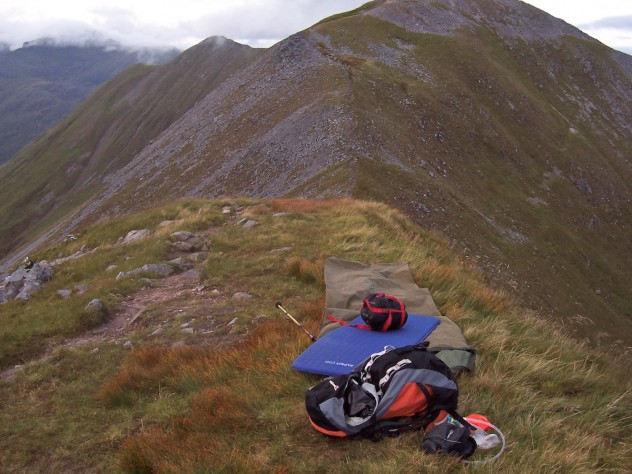 Bivouac on the Ring of Steall, September 2009