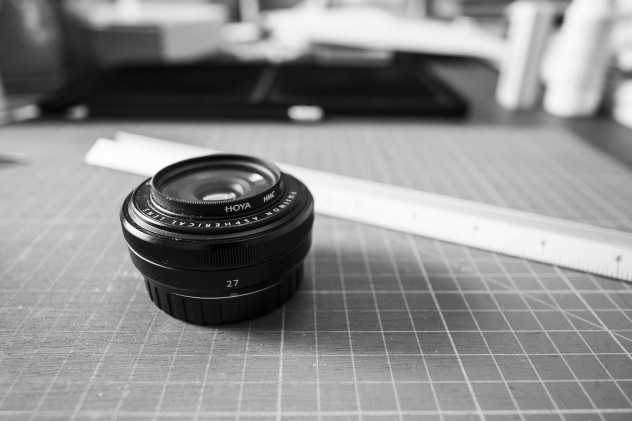 The diminutive Fujinon 27mm f/2.8