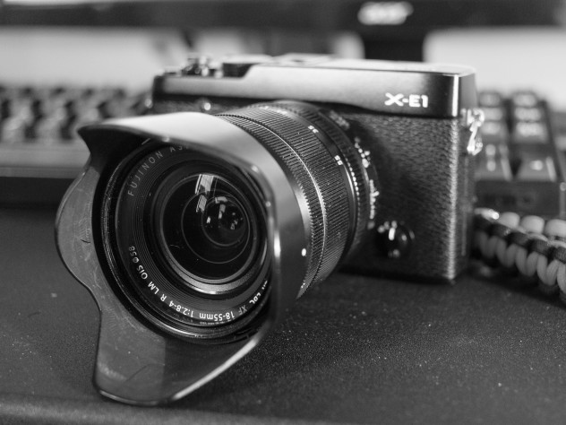 Fujifilm X-E1 with the 18-55 attached