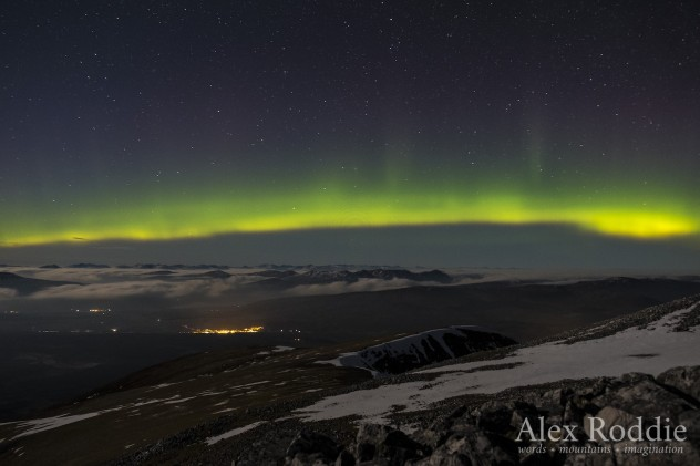 A spectacular display of aurora over Glen Spean, 15/03/16.
