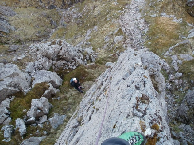 On the second ascent of Shrike Ridge. I made the first ascent in September 2009 solo.