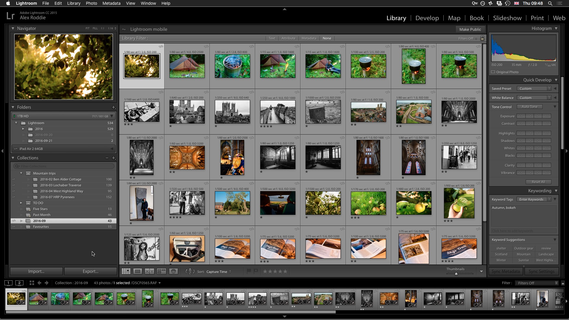 Lightroom on the Mac