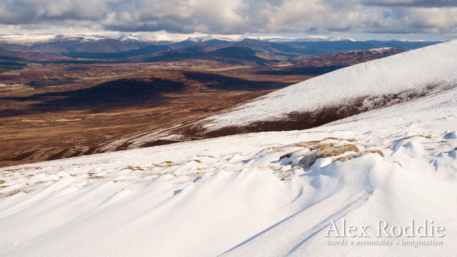The ascent of Carn na Caim