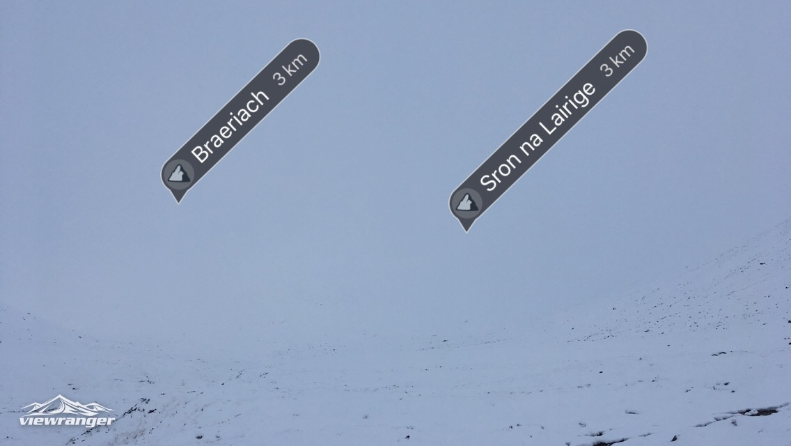 Poor visibility in the Lairig Ghru