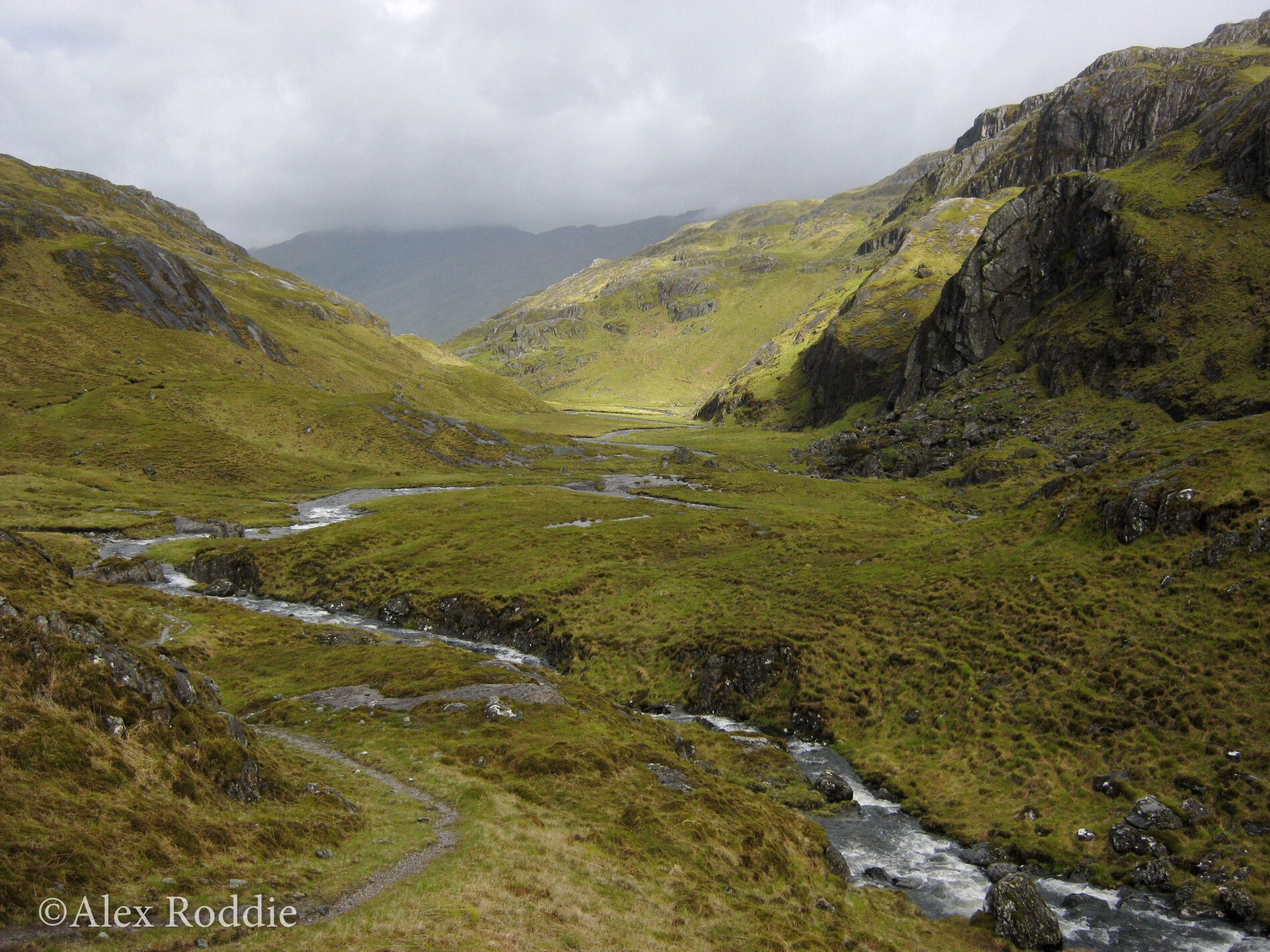 Deeper into Knoydart, the Finiskaig River presents another challenging crossing