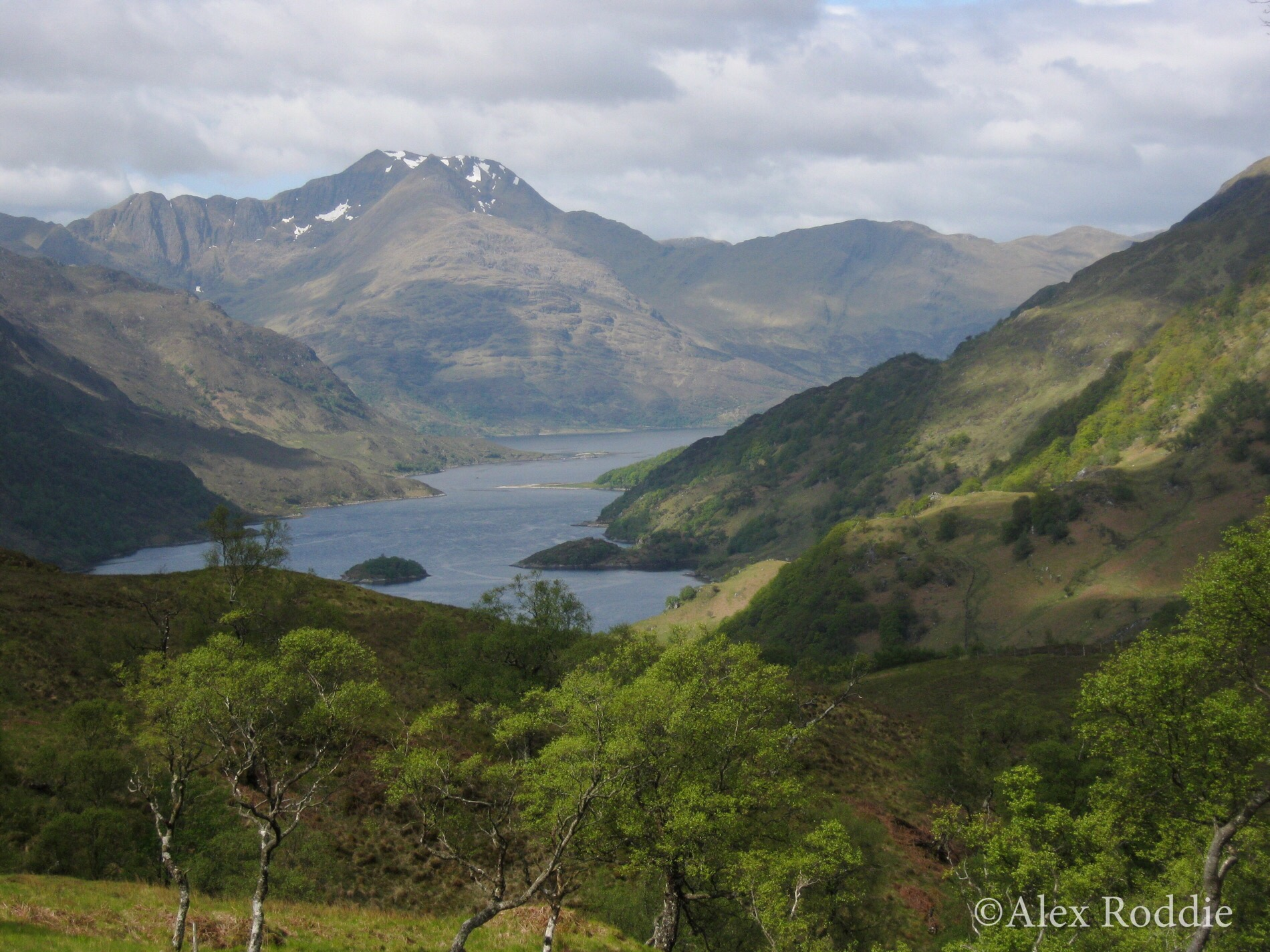 Down the length of Loch Hourn to Ladhair Bheinn