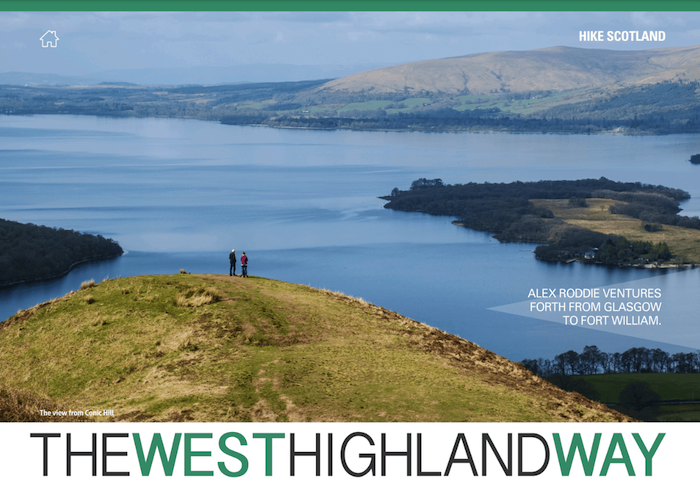 The West Highland Way, Outdoor Enthusiast Hike & Bike 2017