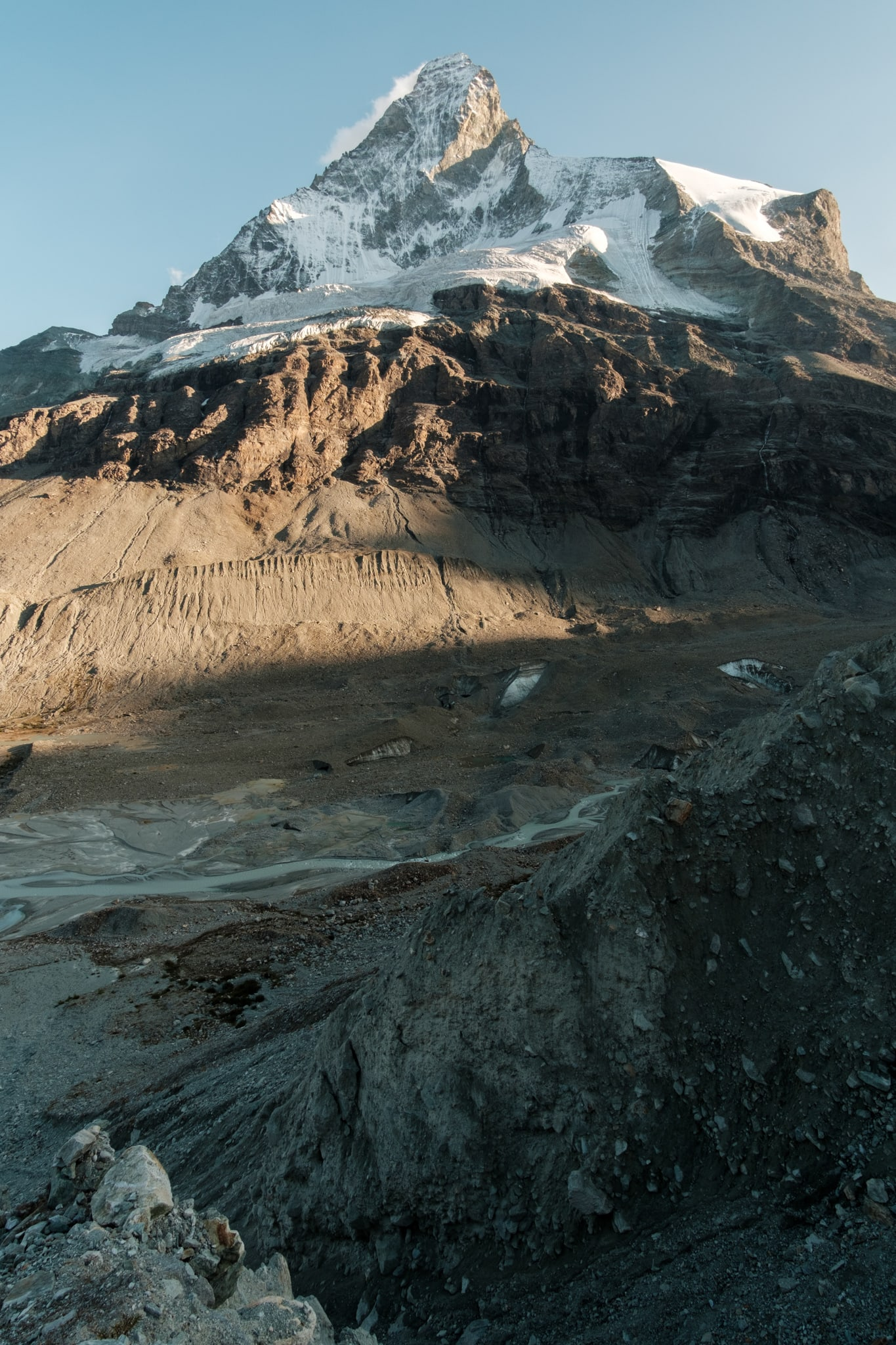Erosion gnawing at the Matterhorn's roots © Alex Roddie