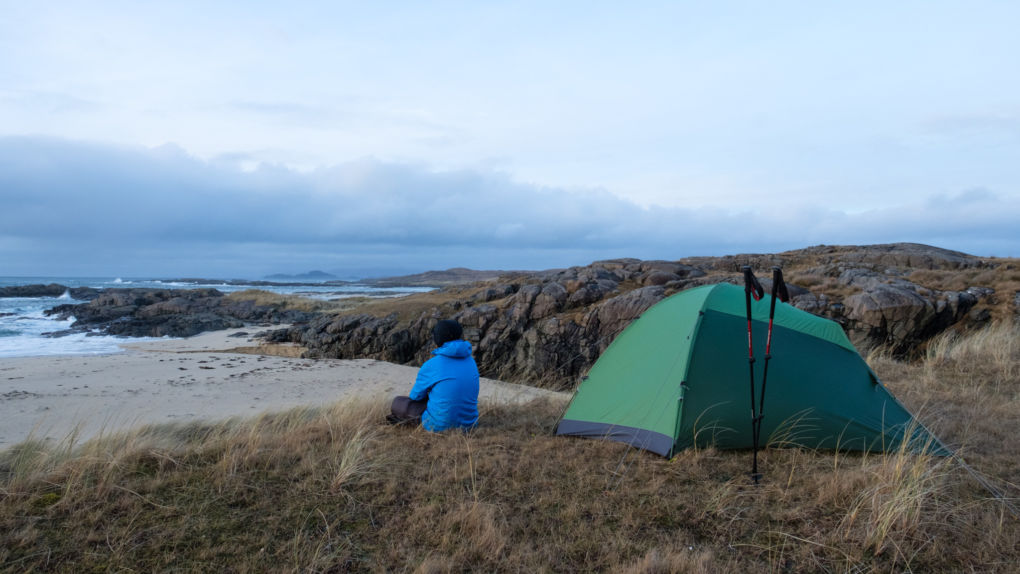 Alex Roddie hiking the Cape Wrath Trail in Ardnamurchan