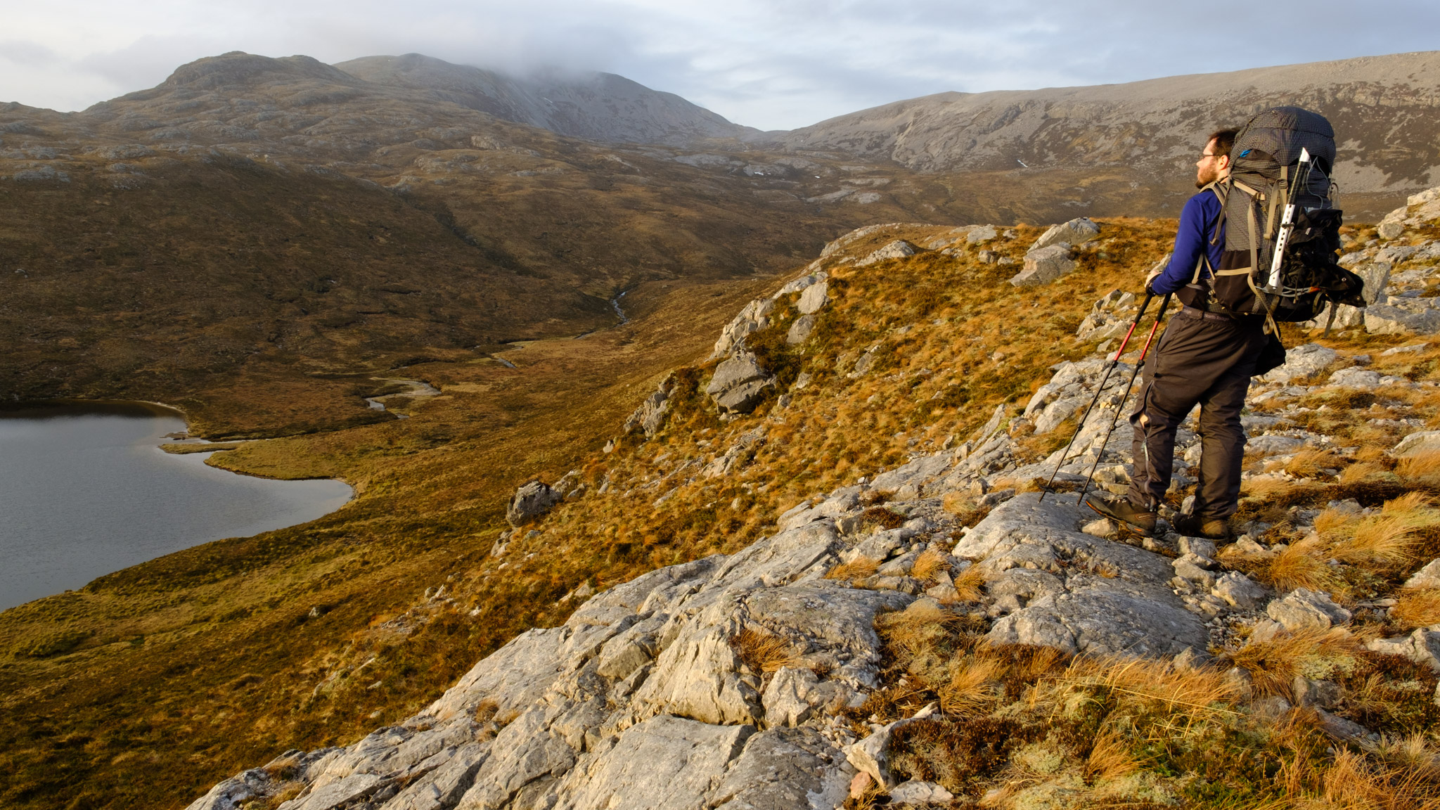 Alex Roddie on the Cape Wrath Trail in Assynt