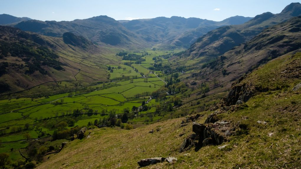 Nearing the end of the circuit, looking back to the Langdale skyline