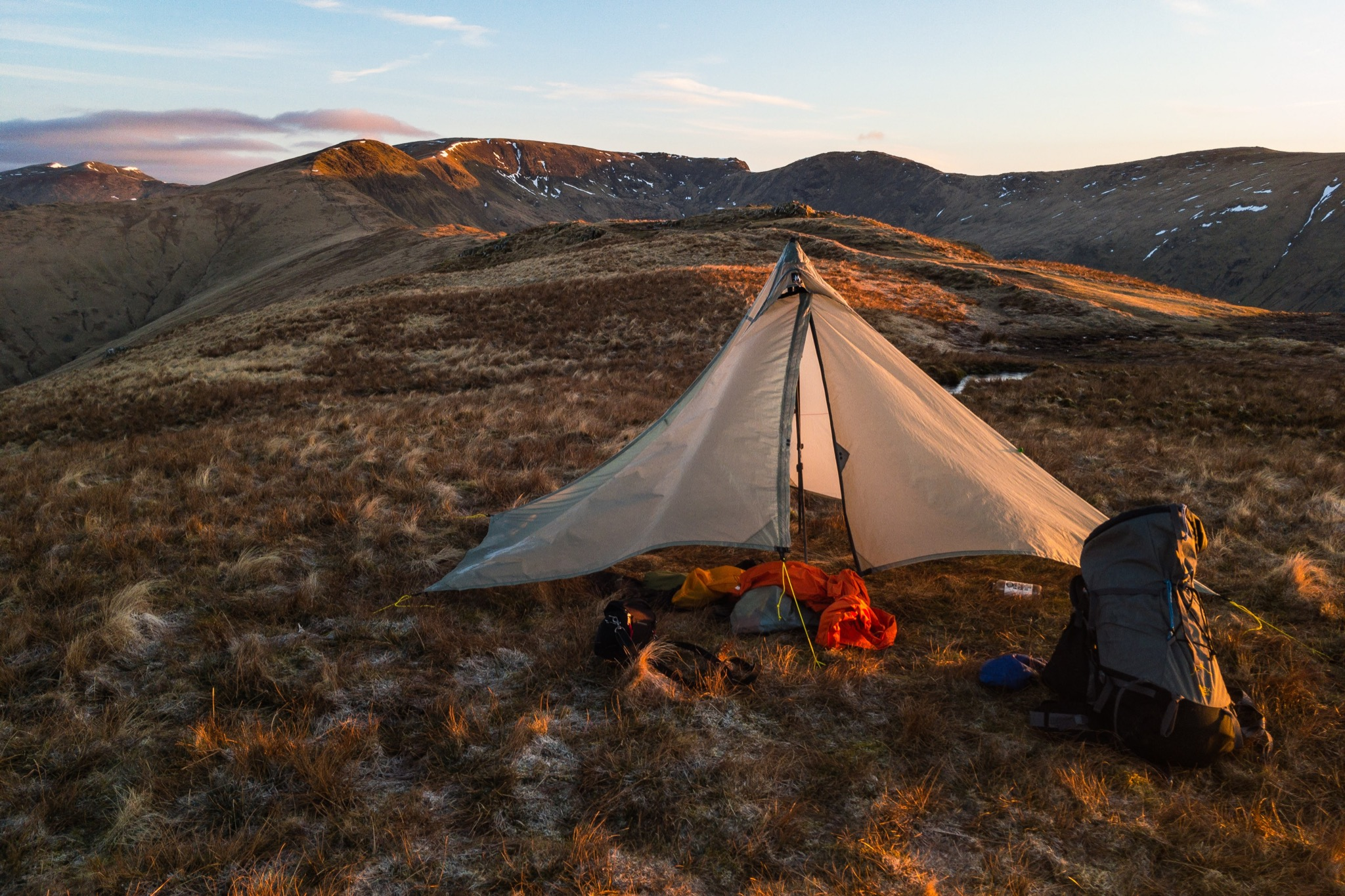 Camp near the summit of Heron Pike