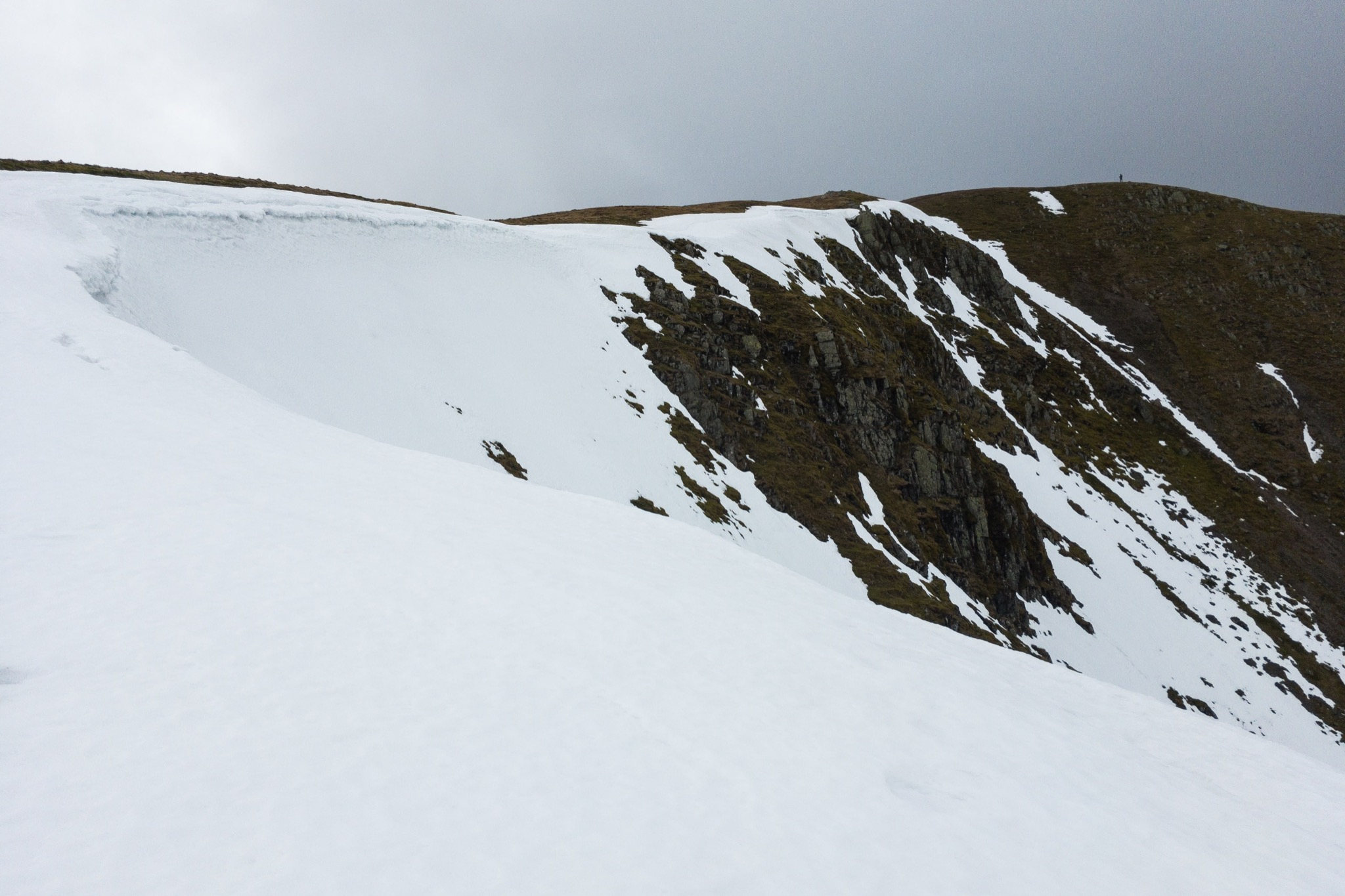 On Nethermost Pike, winter was a bit more assertive, but still in gradual retreat
